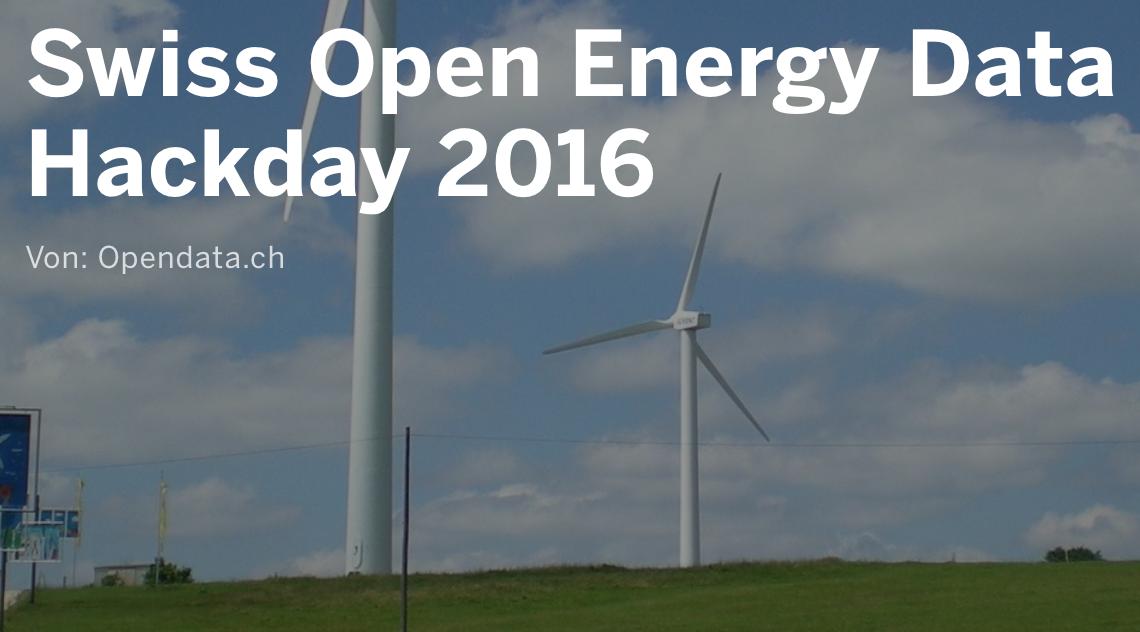 April 2016: Energy Hackdays