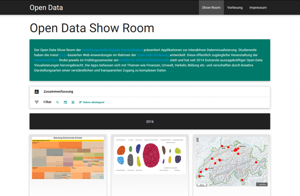 Open Data Show Room